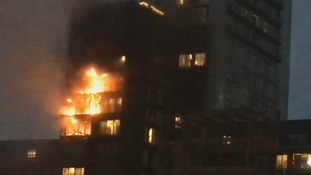 Firefighters tackle apartment block blaze in central Manchester