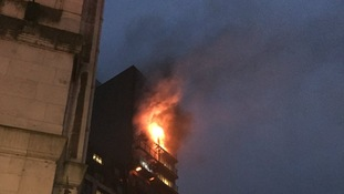 Pictures of apartment block fire