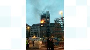 Apartment block fire