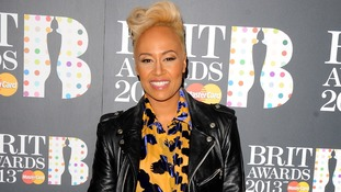 Emili Sande arrives at the Brit Awards 2013 nominations launch at the Savoy Hotel in London
