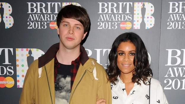 AlunaGeorge, George Reid and Aluna Francis, arrive at the Brit Awards 2013 nominations launch at the Savoy Hotel in London