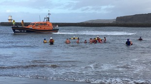 Braving the waters for Whitehaven New Year's Eve dip