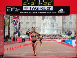 Aly Dixon in the London Marathon (2016)