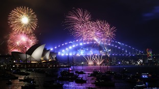 Fireworks in Sydney see in 2018 in style.