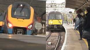 Trains from Luton and Chelmsford to London