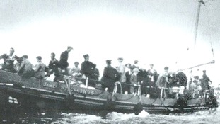 The James Stevens brings those rescued ashore