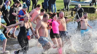 Ne'erday chill for hardy swimmers at Crossmichael