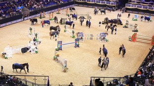 The Liverpool International Horse Show was taking place when the blaze started