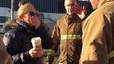 This is the moment a dog owner is reunited with her four pets after they survived the devastating Liverpool car park fire trapped in a car