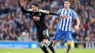 Brighton and Bournemouth share points in New Year's Day clash