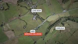 The crash happened near Low Row, Carlisle