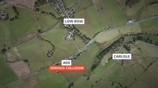 The crash happened near Low Row, Carlisle