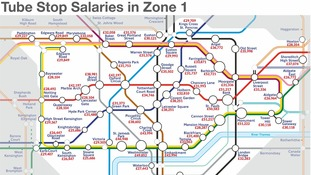 Which zone 1 Tube stations are near the highest paid jobs?