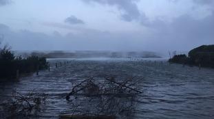 Flooding at Rocquaine