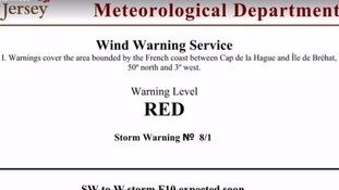 Jersey Met Red Wind Warning