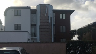 Cladding gone from property in Jersey