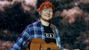 Ed Sheeran was the year's most streamed artist ahead of Drake.