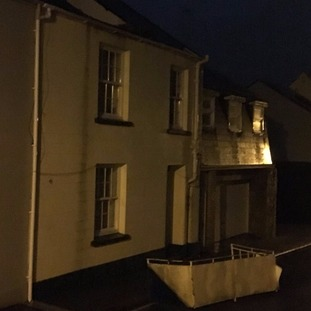 Balcony swept off building in St Helier