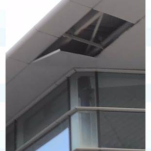 Roof panel blown off Guernsey Airport