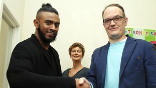Khamran Uddin (left), apologised to his victim Tim Isherwood