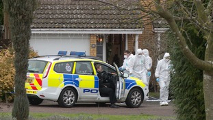 Forensic officers at the address.