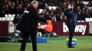 West Bromwich Albion manager Alan Pardew gestures on the touchline during the Premier League match at London Stadium