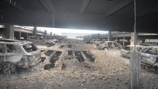 Devastation caused by the blaze.