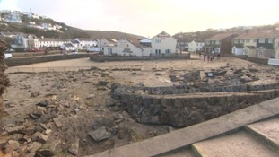 storm damage in Portreath