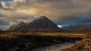 A recovered image of Buachaille Etive Mor in Glencoe