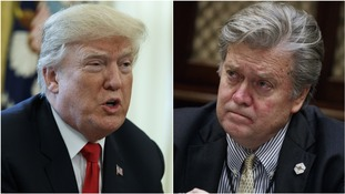 Donald Trump lashes out at Steve Bannon saying former aide 'lost his mind' when he lost White House role