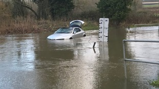 Driver has a lucky escape from Shotesham Ford