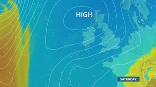 High pressure sinking south drags a NE flow in for the weekend