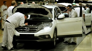 Production line at the Honda Plant in Swindon