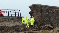 broken sea wall