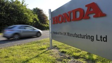 Main entrance to the Honda plant in Swindon