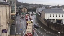 Gridlocked traffic in Kendal