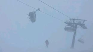 Ski lift terror caught on video as Storm Eleanor hits Europe
