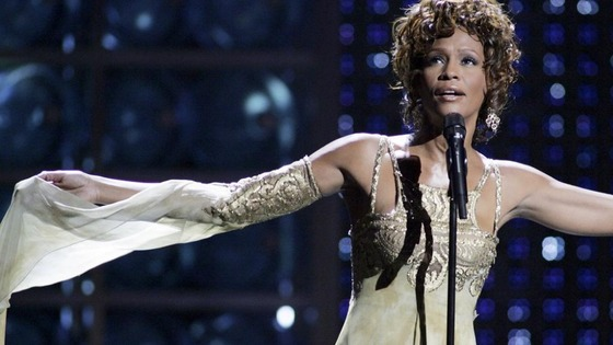 Whitney Houston performs during the World Music Awards in 2004