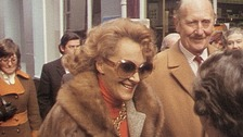 Tv cook Fanny Craddock at the opening of The Mustard Shop in 1973