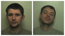 Gavin Milgate (L) and Scott Stretton (R) were sentenced on 5 January for the robbery at the Tesco Express store in Stone Road, Stafford