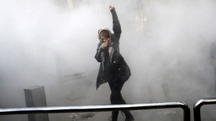The protests spread to several cities in Iran.
