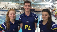Laura Stephens, Thomas Fannon and Jessica Jackson - selected for Team England.
