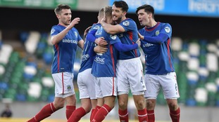 Holders Linfield comfortably through in Irish Cup