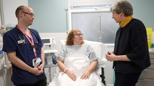 Theresa May visited Frimley Park Hospital last week in the wake of the NHS crisis.
