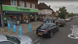 Handgun used in hold up at Dartford Co-op