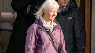 Maureen Greaves pictured a church service in Sheffield