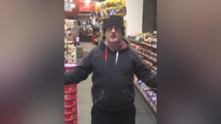 Barry McElduff posted a video with a loaf of Kingsmill bread on his head.