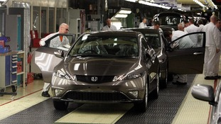 A Honda Civic rolls off the production line at Swindon's plant in 2011.