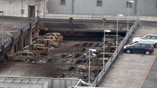 Pictures show undamaged cars left stranded after £20m car park blaze