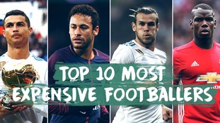 ITV Sport take a look at the top 10 most expensive transfers in football history